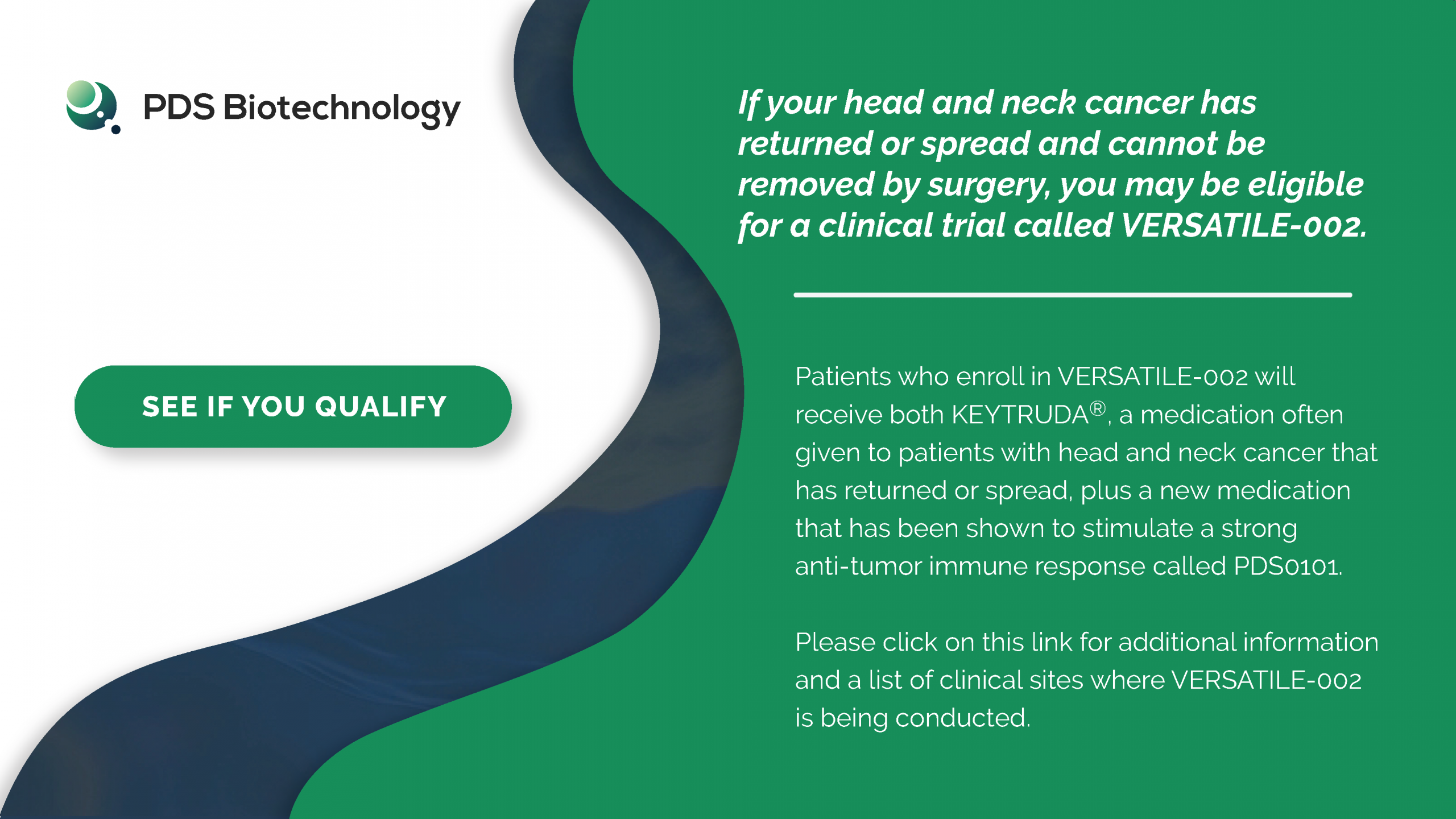 Image for VERSATILE-002 - A PDS Biotechnology Trial in Head & Neck Squamous Carcinoma Cancer